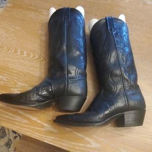 Dan Post Ladies Black Cowgirl Boots 7.5 M